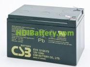 Batería para Bicicleta eléctrica 12v 12ah Plomo AGM EVX-12120 CSB
